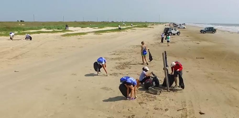 Texas Beache Cleanups